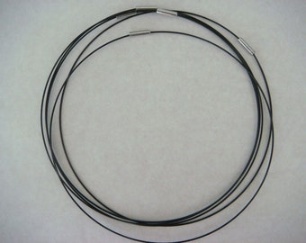 Coated black coloured wire choker necklaces (5)