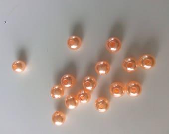 20 bead orange size 8 mm