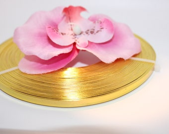 1 m flat 5mm - creating jewelry gold color aluminum wire