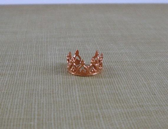 Red Copper Ornate Ear Cuff- Princess Crown