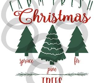 Christmas Tree Farm SVG - instant download stencil