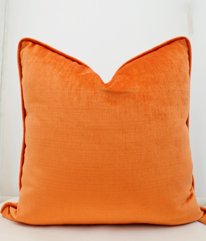 designs carousel lumbar orange large horizontal stripe pillow