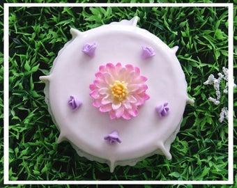 Lid jar of cold porcelain - Lily