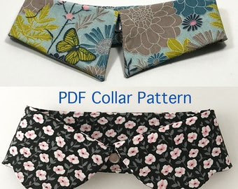 Collar Pattern Four women's detachable collars, PDF Sewing Pattern, Set of 4 Collars Patterns, Accessory Sewing, diy detachable shirt collar