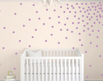 "Confetti Polka Dot Wall Decals, Polka Dot Wall Stickers, 2"" Polka Dot Wall Decals, Circle Wall Decals, Girls Nursery Decals"