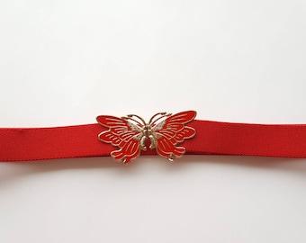 FLASH SALE / 80s Belt / Butterfly Belt