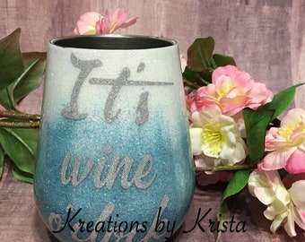 14oz insulated wine tumbler (made to order)