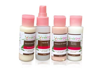 Sample Sized Cleansers Shampoos Co-wash for natural hair growth