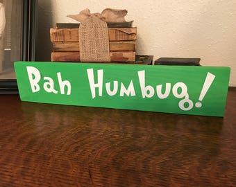 Bah Humbug wood pallet sign