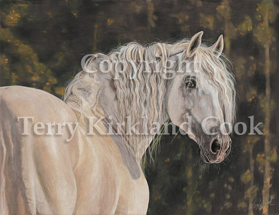 Looking Back ~ Fine Art Giclee Print of an Original Copyrighted Painting by Terry Kirkland Cook