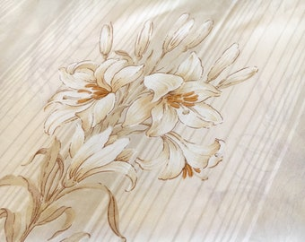 Double bed Vintage sheet single bed lily floral flower print
