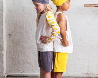 GOTS organic cotton harem shorts