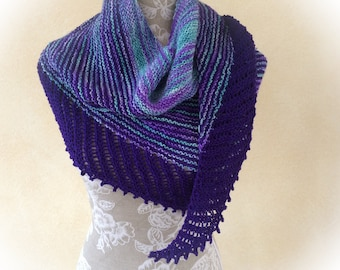 Summerly triangle shawl