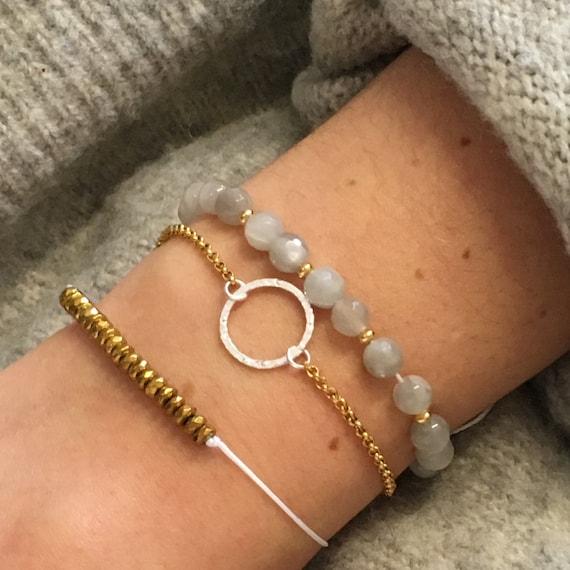 Delicate bracelets handmade in Montreal