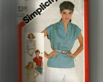 Simplicity Misses' Pullover Tops Pattern 5456