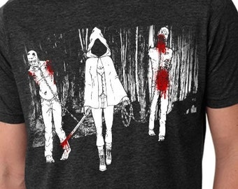 Mature - The Walking Dead T- Shirt | Michonne and Walkers