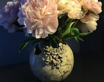 Raku  flower pot