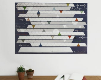 Wall Calendar / Birthday Planner / Year Planner