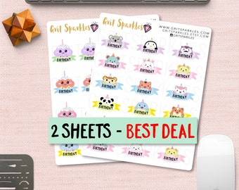 birthday planner stickers birthday stickers for planner birthday stickers  kawaii planner stickers