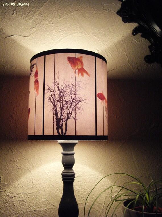 Good Fish Carousel Lamp Shade Lampshade Goldfish Zen Decor Drum