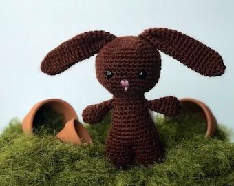 Handmade Chocolate Brown Bunny Rabbit