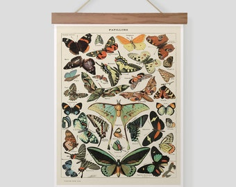 Vintage Butterflies Pull Down Chart
