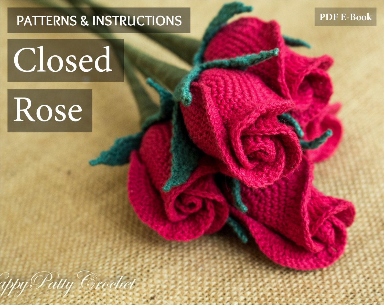 Crochet flower pattern crochet closed rose pattern crochet zoom bankloansurffo Gallery