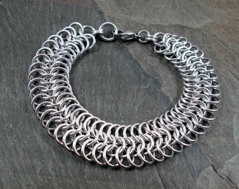 Chainmaille Bracelet - European 6-1 - Bright Aluminum Chainmail - Chainmaille Jewelry - Chain Bracelet