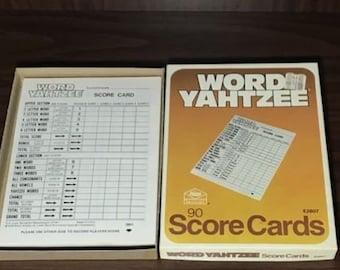 Vintage 1978 Milton Bradley Word Yahtzee score cards replacement