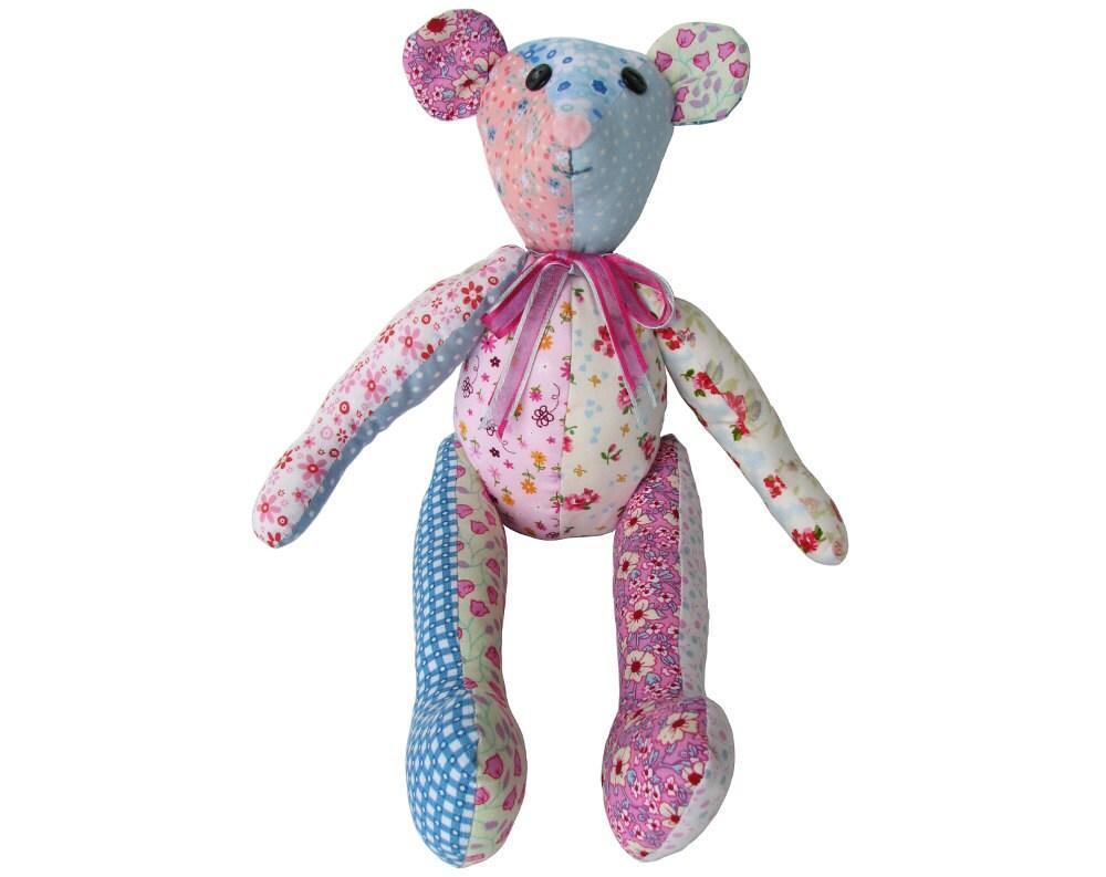 Stuffed animal bear pattern best bear 2017 fox sewing pattern mohair diy teddy jeuxipadfo Choice Image