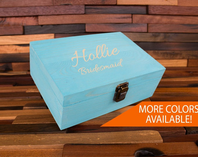 Bridesmaid Box, Bridesmaid Gift Box, Proposal Box, Will you be my Bridesmaid, Wedding Keepsake, Memory Box, Custom Personalized Engraved,