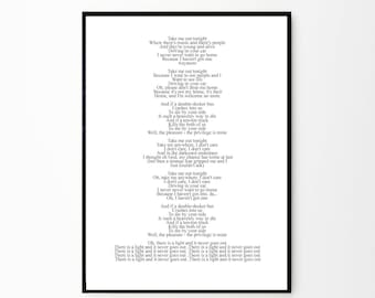The Smiths Print | The Smiths Poster | The Smiths Lyrics Print | Morrissey Poster | Love Song Art | Morrissey | The Smiths |There is a light