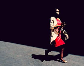 London photography, London street photography, London prints, fine art photography, London photos, Wall art, Home decor, African, Lady, Red