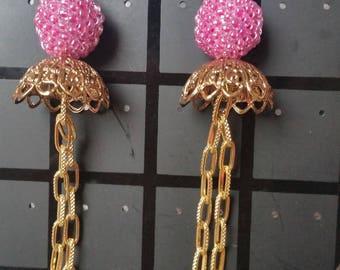 These earrings the taj mahal seed beads