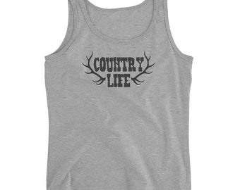 Country Life Ladies' Tank Farm Girl Country Wear Country Concert Country Ladies Tank Cowgirl Shirt Southern Life Tank Southern Girl Tank