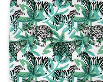 Safari Jungle Changing Pad Cover | Zebra Changing Pad Cover | Safari Nursery Decor | Gender Neutral Nursery