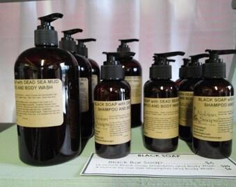 African Black Soap (with Dead Sea Mud) Body Wash/Shampoo