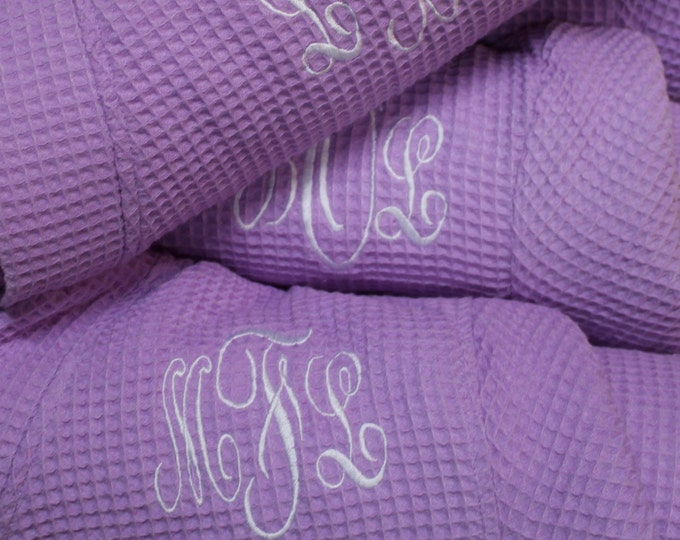 Personalized Bridesmaid Robe Set of 7 ,Monogrammed Robe, Waffle Robe, Personalized Bridesmaid Gifts