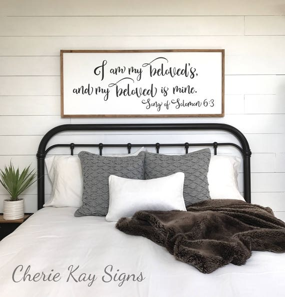 Elegant Master Bedroom Sign I Am My Beloveds Bedroom Wall Decor