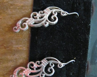 Vintage Sterling Silver Pierced Earrings Signed SJW