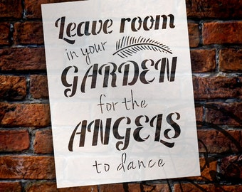 Garden Angels - Word Art Stencil - Select Size - STCL1827 - by StudioR12