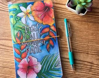I Will Call Upon Your Name - Midori Travelers Notebook Style Dash-Dori Fauxdori