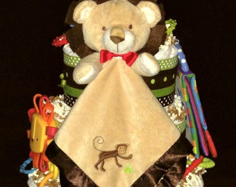 Jungle Friends Diaper Cake