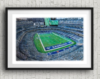Dallas Cowboys wall art cowboys Fan Gift - wall Decor