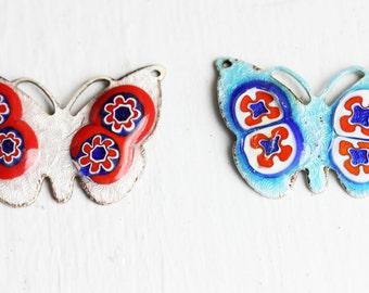 Enamel Butterfly Charms (2x)
