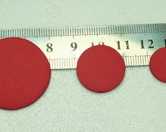 8 beads (black or red) flat 20mmX1mm