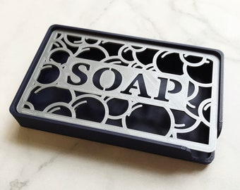 Soap Dish with Bubble Pattern & SOAP