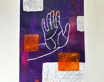 """Abstract painting """"Stop!"""""""