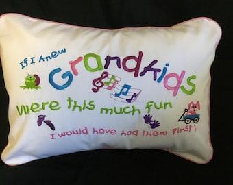 Grandkid Pillow