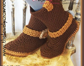 Boots Crochet Pattern (Women Sizes)